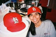 Cardinals cap cake