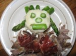 Potato/asparagus face