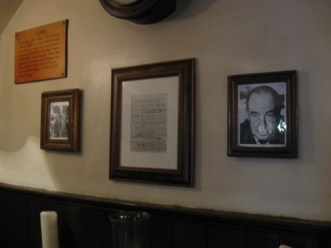 signed list of members of The Inklings at the Eagle and Child pub