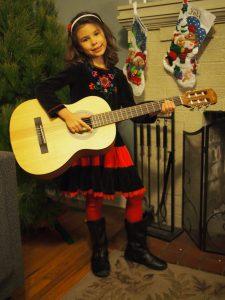 Josie with her guitar