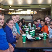On our first day, we visited with the Turner family in Omaha. It was our first time eating at a Runza restaurant.