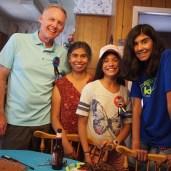 Grandpa, Yoli, Ludi, and Jadzia had a mega-birthday party in San Antonio.