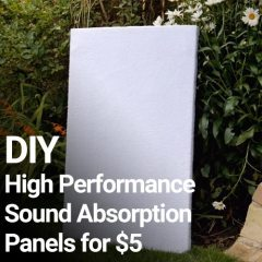 DIY High Performance Sound Absorption Panels for $5