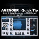 Avenger Tutorial: Drag & Drop Samples into the OSC Window