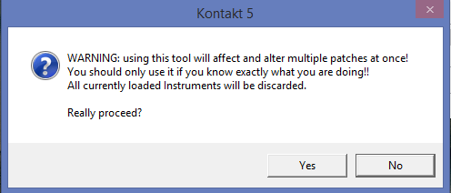 batch resav warning message kontakt