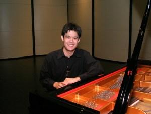 Joshua Chandra at the piano
