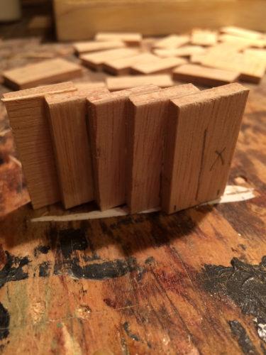five steps glued together