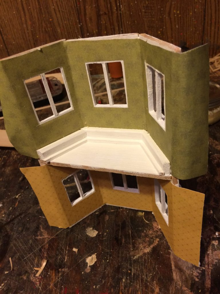 Crown moulding on bay windows