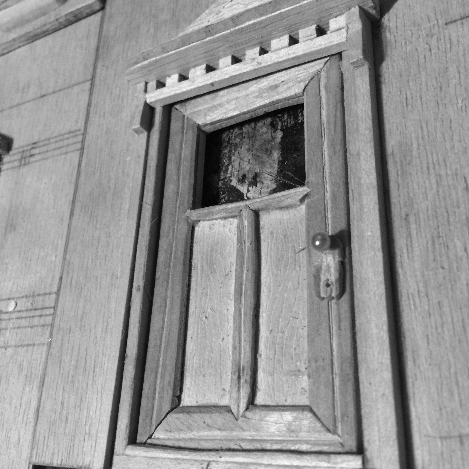 closeup of front door details