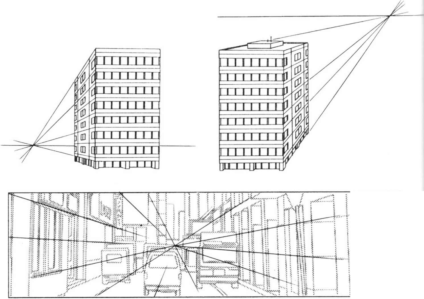 Three Point Perspective Buildings