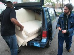 Buying furniture - we visited thrift stores all over Chicago