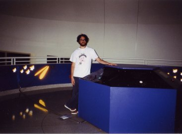 Posing by the Console
