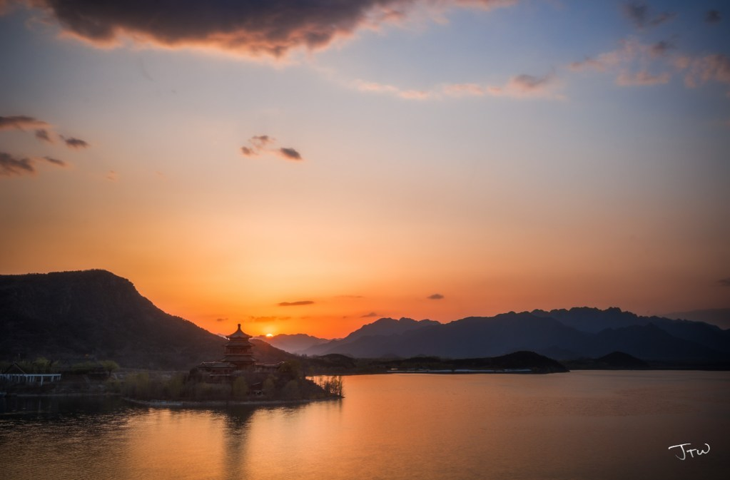 Ming Tombs Reservoir Sunset