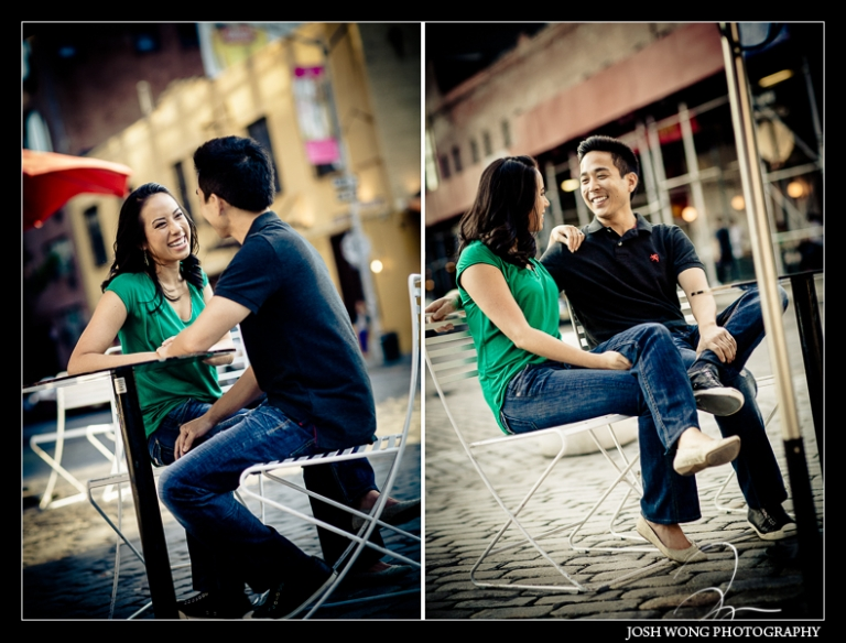 The Meat Packing District and chelsea engagement photo session with NYC engagement photographer Josh Wong Photography