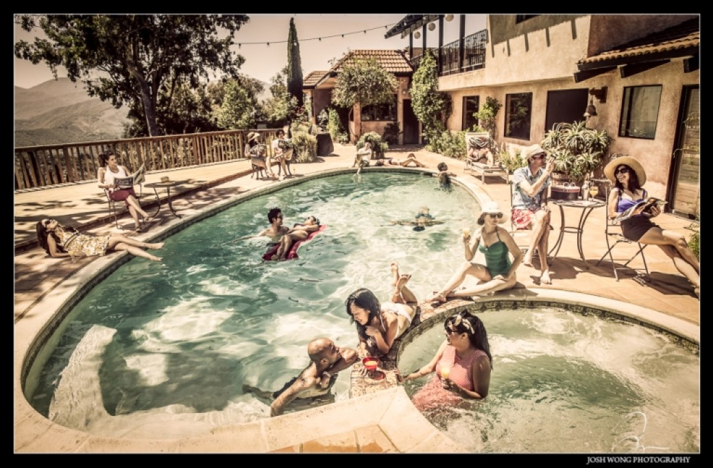 Vintage Pool Party Photo Shoot