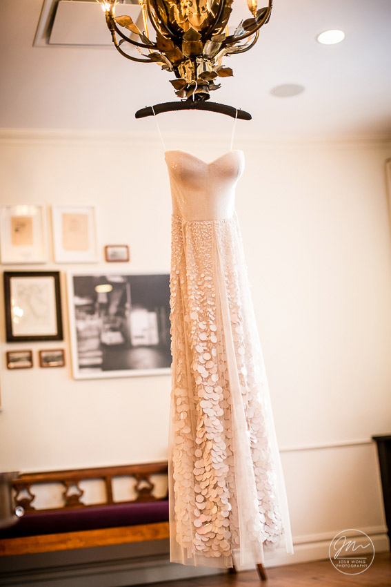 The wedding dress at the NoMad Hotel.