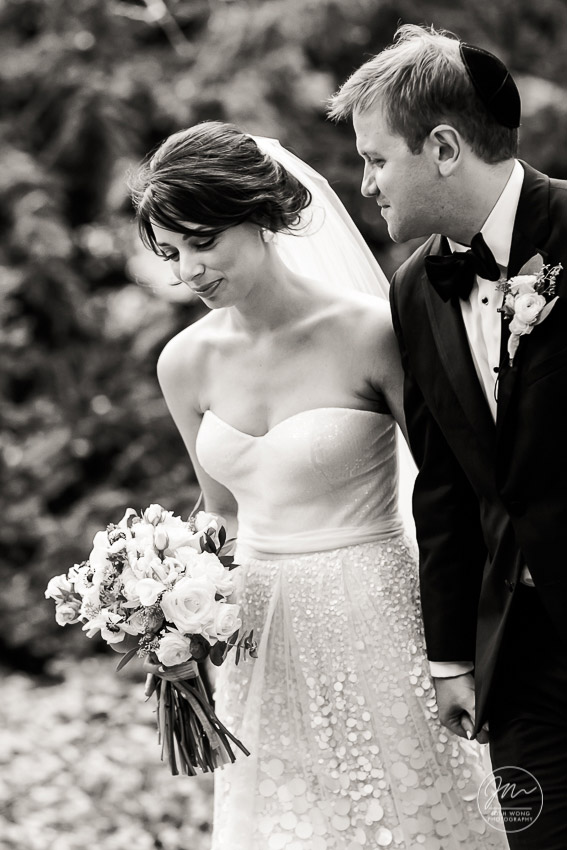 An intimate moment just before the ceremony.