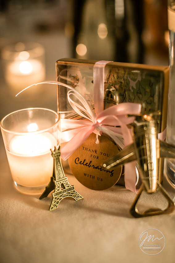 Parisian inspired themed wedding decor.