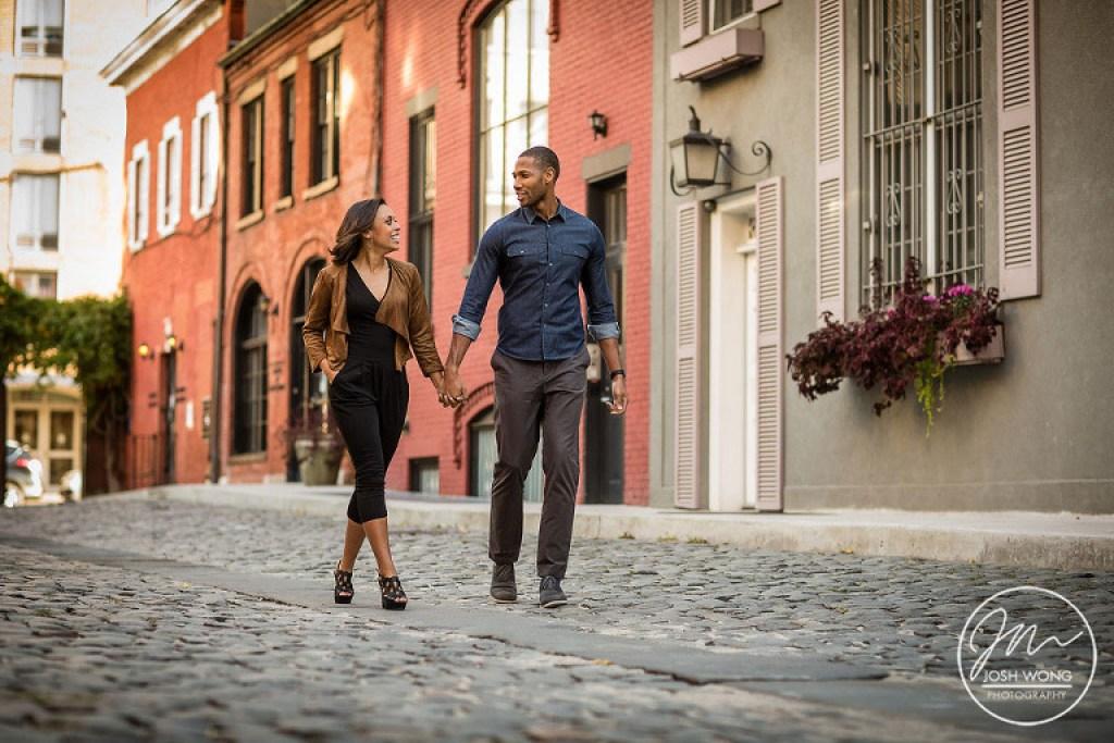 Greenwich Village and Washington Square Park Engagement Photoshoot