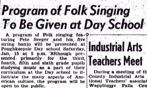 Pete Seeger visits PDS in 1949
