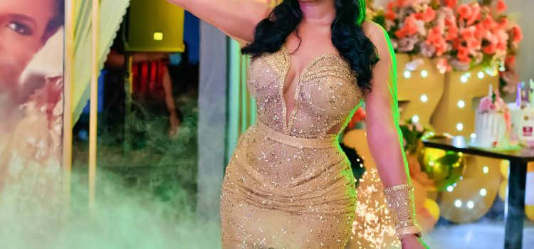Actress Chika Ike is living it large as she threw a lavish party on her 35th Birthday.