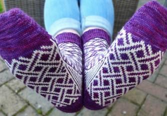 Jo Torr Crossrail colourwork socks
