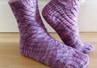 Jo Torr Aldgate toe-up ribbed socks