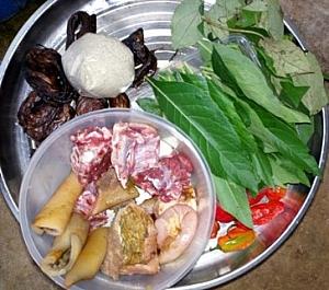 Some of the ingredients for preparing miyan busheshen kubewa