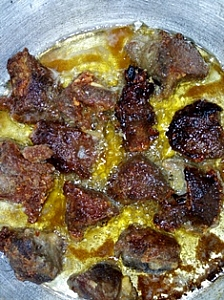Frying process of beef