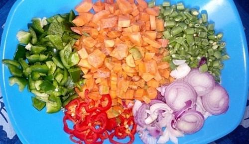 Chopped vegtables