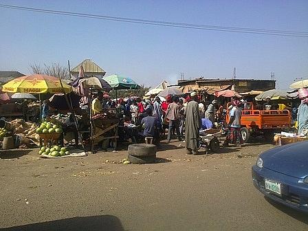 Farin Gada market entrance