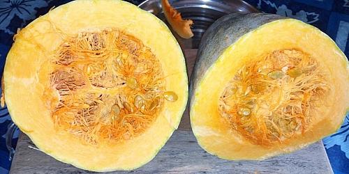 Halves pumpkin