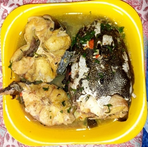 Catfish pepper soup made with healthy herbs and spices
