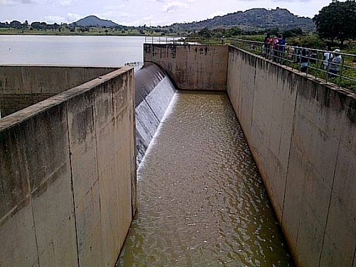 A picture showing spillway of pankshin dam