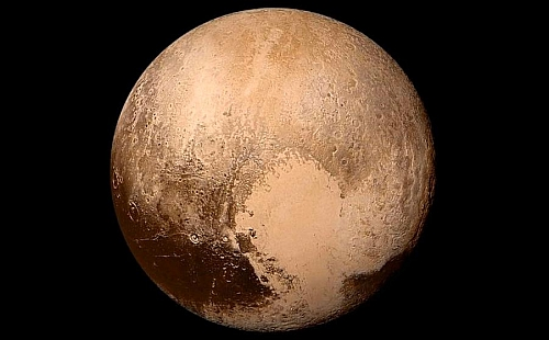 Picture of Pluto which is now considered as a dwarf planet