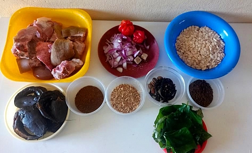 Egusi pepper soup ingredients