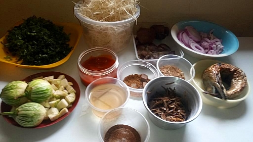 Abacha/African salad ingredients