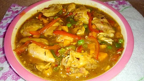 Delicious chicken sauce for rice