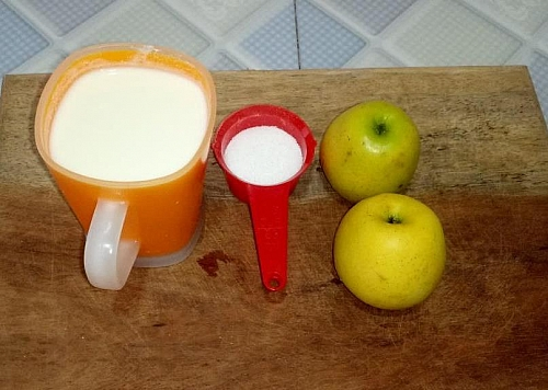 Apple milkshake ingredients