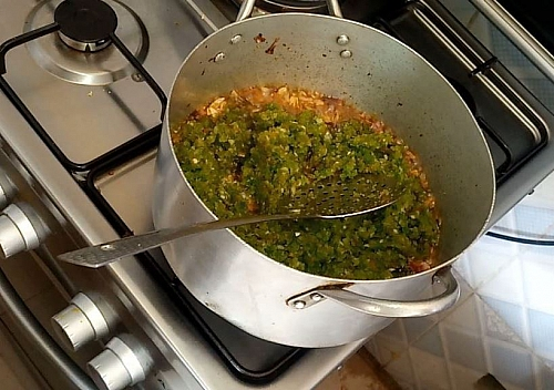 Stir the sauce from time to time as it cooks to prevent from burning