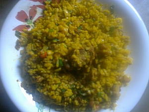Photo of How To Prepare Combined Rice And Bean With Palm Oil and Vegetable