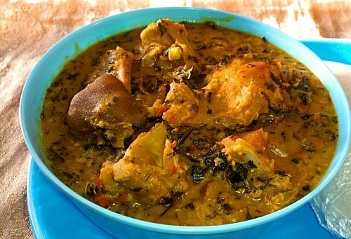 Photo of Bitter Leaf Soup Recipe: How to Prepare Bitter Leaf Soup with Cocoyam (Ofe Onugbu)