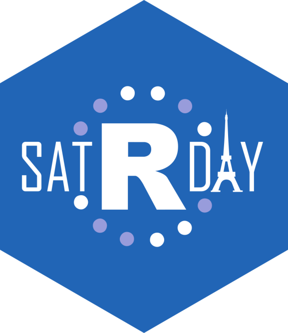 The satRday Paris 2019 logo