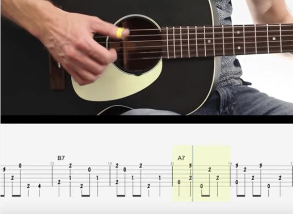 vidéo pour apprendre le blues picking à la guitare