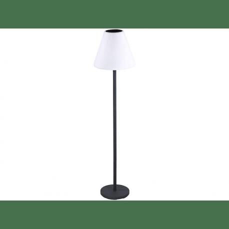 lampe sur pied d exterieur solaire led couleurs et enceinte