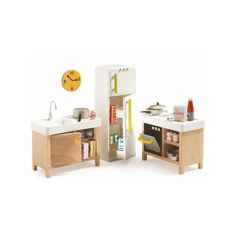 Pack Mobilier Pour Maison De Poupes Djeco