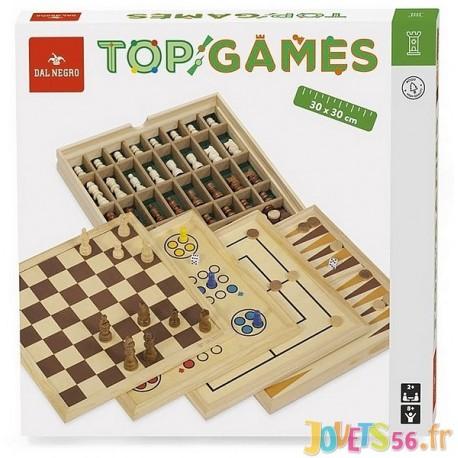 coffret de 5 jeux en bois top games
