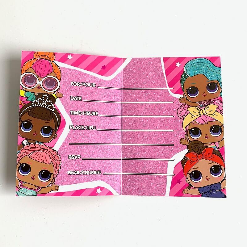 8 cartes d invitation pour anniversaire lol surprise