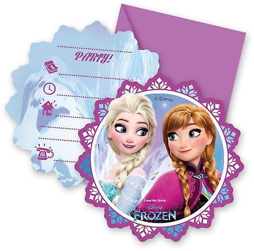cartes la reine des neiges d invitation pour un anniversaire par lot de 6
