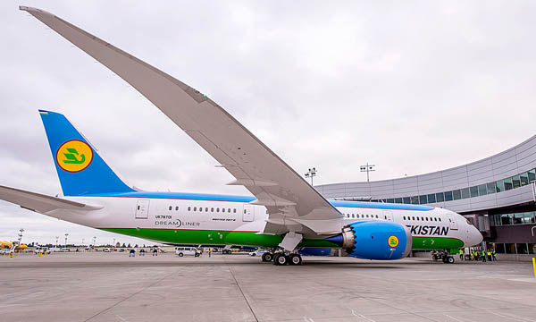 Uzbekistan Airways continues with the GEnx for its Boeing 787